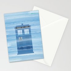 TARDIS Under the Sea - Doctor Who Digital Watercolor Stationery Cards
