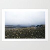 Fog & Rocks Art Print