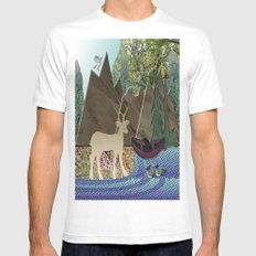 Wild Rural Animals Mens Fitted Tee White SMALL