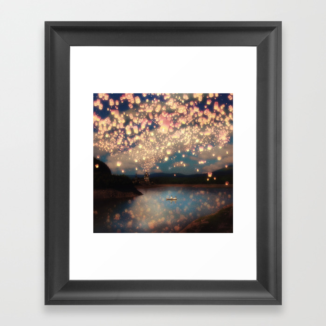 Love framed art prints society6 for Wall of framed pictures