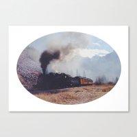 Mountain Train Canvas Print