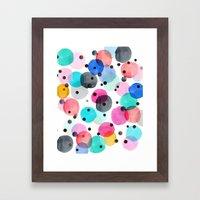 Festive Dots Framed Art Print
