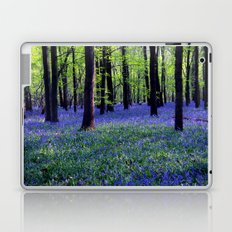drowning in the bluebell sea Laptop & iPad Skin