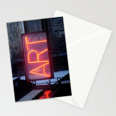 Neon Art Stationery Cards