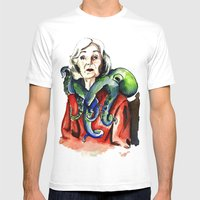 Octopus Mens Fitted Tee White SMALL