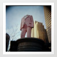 Sharply Dressed, Headless Statue Art Print