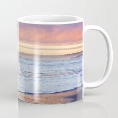 Vibrant Sunset over the Stacks at Huntington Beach, California Mug