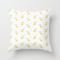 Little Sun white Throw Pillow