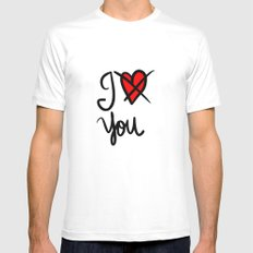 I don´t love you  White Mens Fitted Tee SMALL