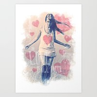 ALL I NEED IS LOVE Art Print