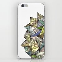 Green Spikes iPhone & iPod Skin