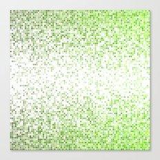 Green bathroom mosaic Canvas Print