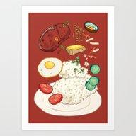 Vietnamese Food_Broken R… Art Print