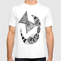 Rhino Horn Mens Fitted Tee White SMALL