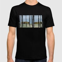 wood pavilion Mens Fitted Tee Black SMALL