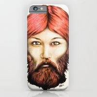iPhone & iPod Case featuring Wendy, The Bearded Lady by Carl Floyd Medley III
