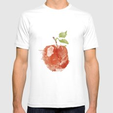 Apple 06 SMALL White Mens Fitted Tee