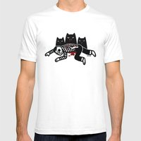 Cat Feast Mens Fitted Tee White SMALL
