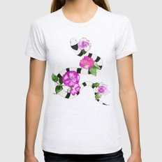 Snakes & Pink Roses Womens Fitted Tee Ash Grey SMALL