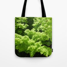 Japanese Maple Green Tote Bag