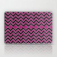 Pink Black Tribal Chevron Laptop & iPad Skin