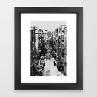 Something In Between Framed Art Print