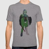 Defender Mens Fitted Tee Athletic Grey SMALL