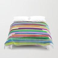 Colorful Stripes 1 Duvet Cover