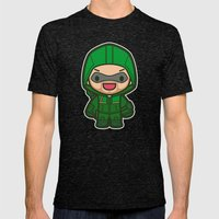 Green Archer Mens Fitted Tee Tri-Black SMALL