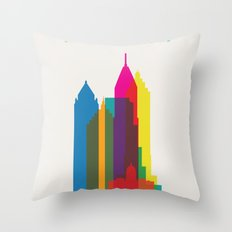 Shapes of Atlanta. Accurate to scale Throw Pillow