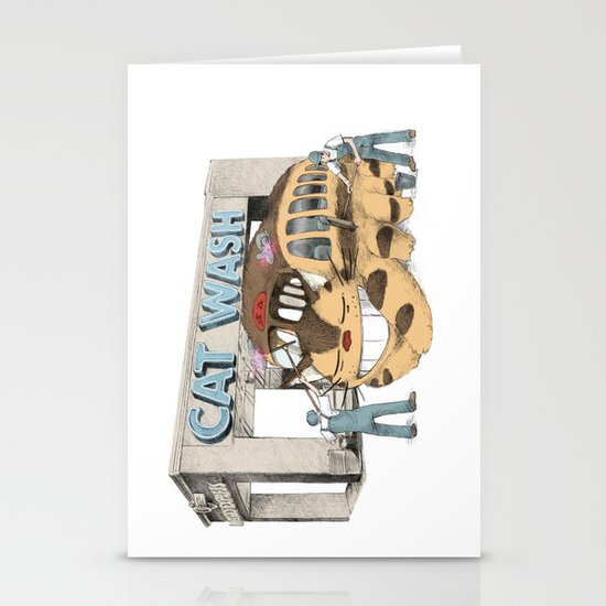 Cat Wash Stationery Card