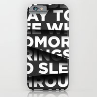 iPhone Cases featuring Sleep Through The Night by WRDBNR