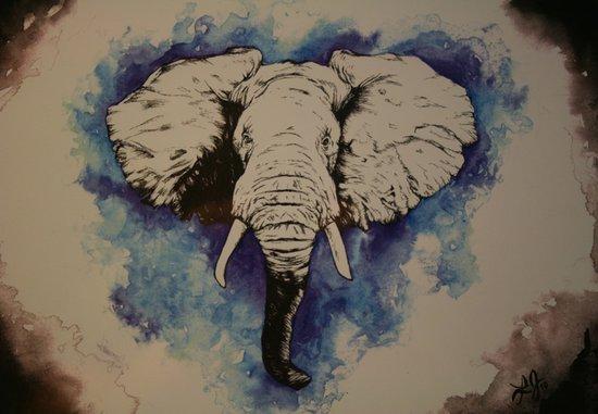 Glorious Elephant Canvas Print
