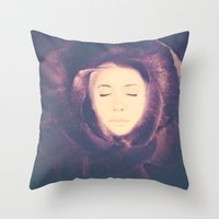 Flower Face Throw Pillow
