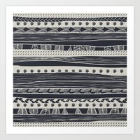 aztec Art Prints featuring aztec by spinL
