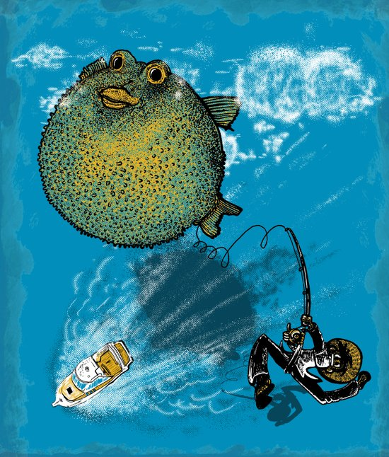 pufferfish baloon Art Print