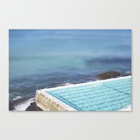 Blue Iceburgs Canvas Print