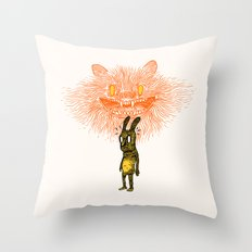 Scared Stiff Throw Pillow