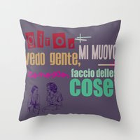 Ecce Bombo Throw Pillow