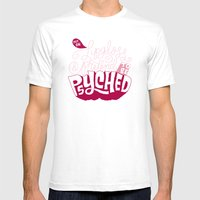 Put On Lip Gloss And Pre… Mens Fitted Tee White SMALL