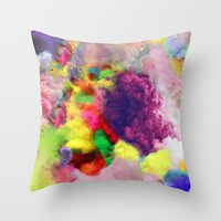 Colorful Smoke And Mirro… Throw Pillow
