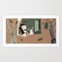 Twit-twoo Art Print