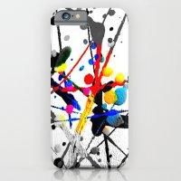 paint splatter 1 iPhone 6 Slim Case