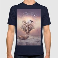 In The Stillness Mens Fitted Tee Navy SMALL