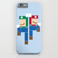 iPhone & iPod Case featuring Super Bro High Five by Brandon Ortwein