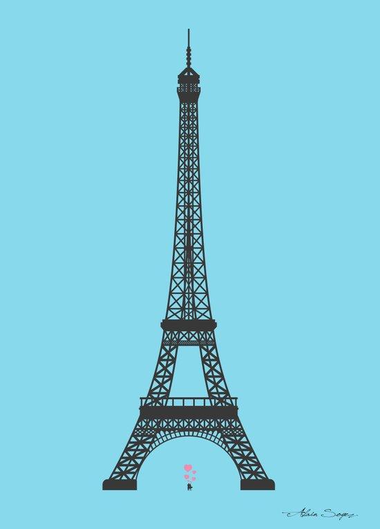 Eiffel Tower - First Kiss Canvas Print