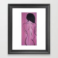 Cherry Wood Girl Framed Art Print
