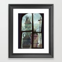 window to somewhere Framed Art Print