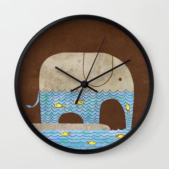 Thirsty Elephant  Wall Clock