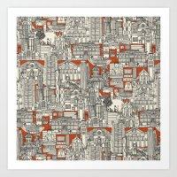 Hong Kong Toile De Jouy Art Print
